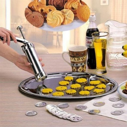 Hot Manual Cookie Press Stamps Set Baking Tools 24 In 1 With 4 Nozzles 20 Cookie Molds Biscuit Maker Cake Decorating Extruder